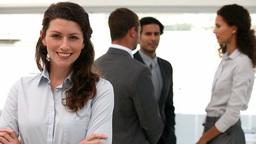 Businesswoman happy Footage
