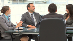 Business people talking during a meeting Stock Video Footage