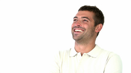Man smiling at the camera Stock Video Footage