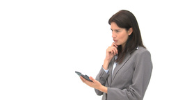 Businesswoman using a computer tablet Footage