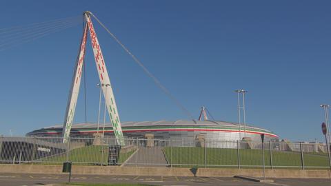 Juventus Stadium Torino Italy, 4K stock footage