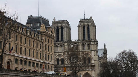 1520 Notre Dame Paris France Building Footage