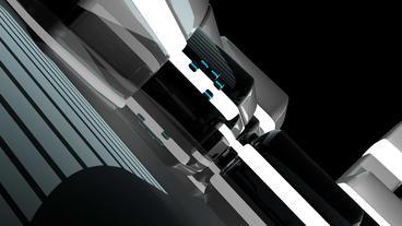 4k Modern High-tech Sci-fi Scenario,future Space W stock footage