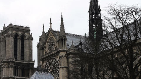 1522 Notre Dame Paris France Building Footage