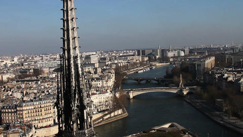 1533 On Top of Notre Dame Paris France Footage