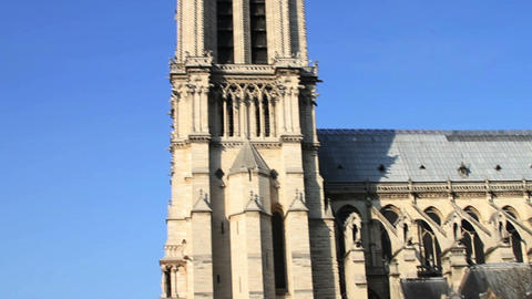 1535 Notre Dame and the Streets of Paris France Footage