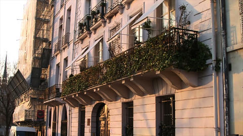 1541 Building and Street in Paris France Stock Video Footage