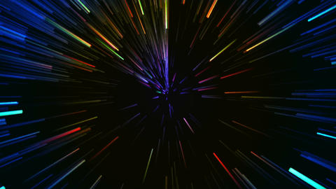 Hyperspace Motion Background Animation