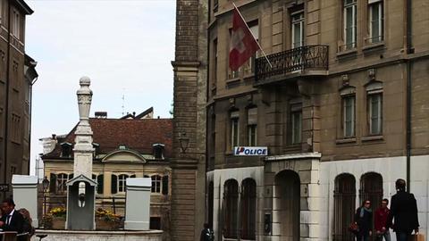 1560 Street in Geneva Switzerland Stock Video Footage