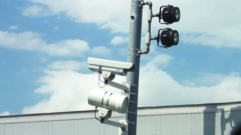 1562 Police Speed and Surveillance Cameras Stock Video Footage