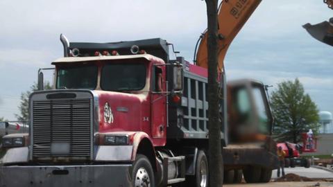 1565 Dump Truck and Excavators Heavy Equipment Stock Video Footage