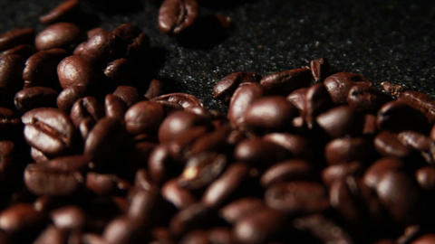 1573 Coffee Beans in Slow Motion Stock Video Footage