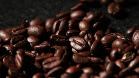 1573 Coffee Beans in Slow Motion Footage