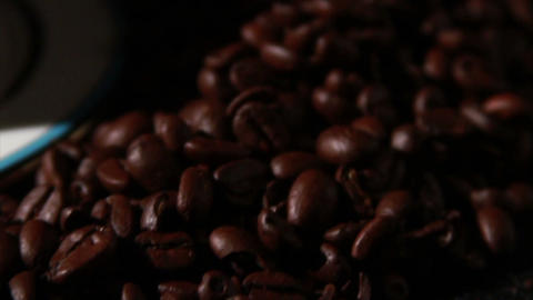 1584 Coffee Beans and Coffee Cup Footage