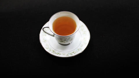 1600 Tea in Tea Cup Footage