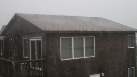 1630 Storm at Beach with House Footage