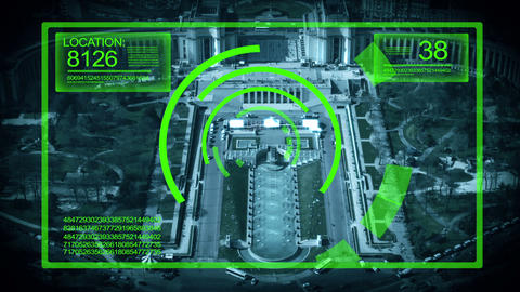 Tracking System Surveillance in Paris France, HD Footage