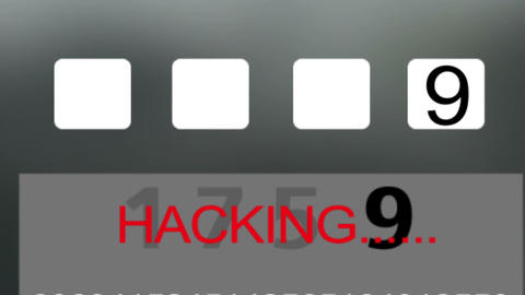 1667 Smart Phone Being Hacked Into Footage