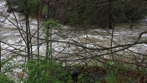 1465 Old Bridge Destroyed Flood Stage White Water  Footage
