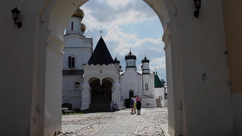 Pilgrims in the Ipatiev Monastery Stock Video Footage