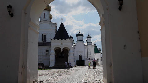 Pilgrims in the Ipatiev Monastery Footage