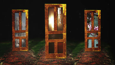 Three Doors Which One Wil You Choose, HD Footage
