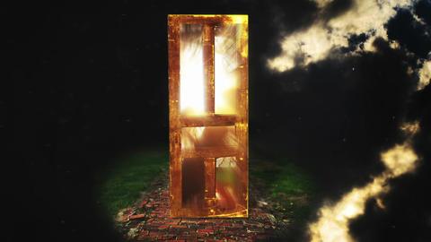 Door of Light to Heaven, HD Stock Video Footage