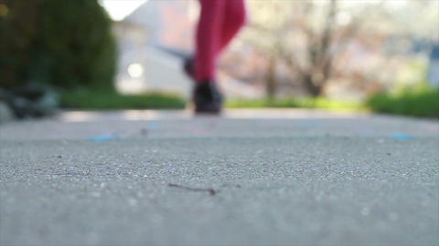 1301 Child Playing Hopscotch, Slow Motion Stock Video Footage