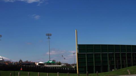 1353 Baseball Stadium with Blue Skys Footage