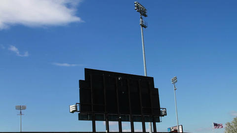 1368 Baseball Stadium with Blue Skys Footage