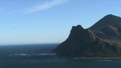 1399 Mountians By Ocean At The Tip Of Africa stock footage