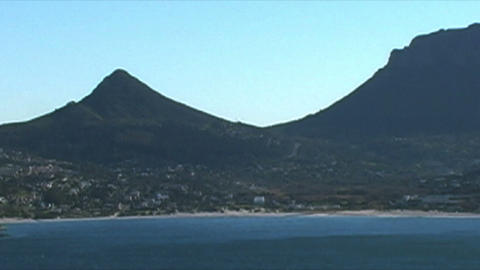 1400 Mountians by Ocean at the Tip of Africa Stock Video Footage