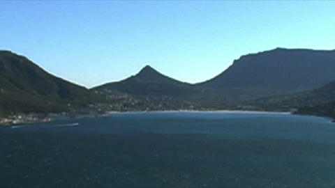 1402 Mountians by Ocean at the Tip of Africa Footage