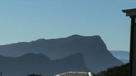 1412 Mountains Cliffs at the Tip of Africa with th Footage
