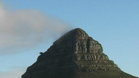 1422 Mountain and Sunset in Cape Town South Africa Stock Video Footage