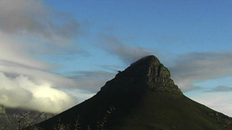 1429 Mountian and Sunset in Cape Town South Africa Footage