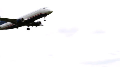 1266 Jet Airplane Landing at Airport Stock Video Footage