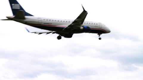 1266 Jet Airplane Landing at Airport Footage