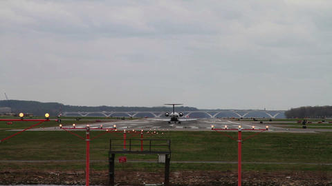 1268 Jet Airplane Taking off from Airport Stock Video Footage
