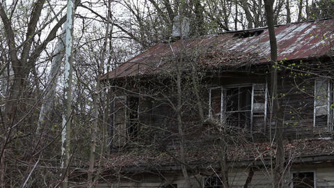 1292 Old Abandoned Houses Stock Video Footage