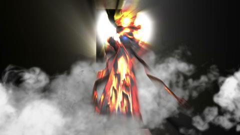Angel Vision with Smoke, HD Footage