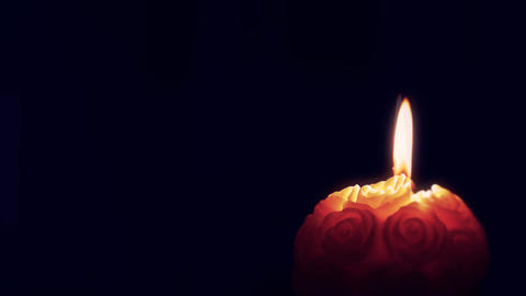 Red Candle Flame stock footage