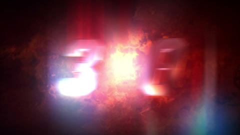 Fire Countdown stock footage