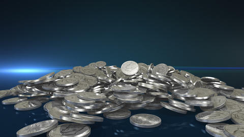 Silver Coins + Alpha stock footage