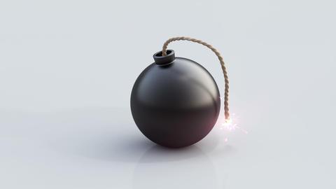 Bomb animation Stock Video Footage