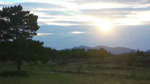 Mountain sunset Footage