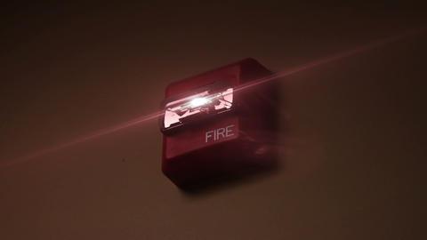 1166 Fire Alarm Flashing stock footage