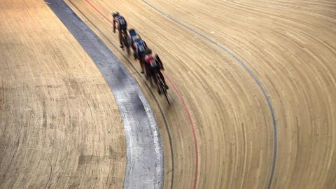 velodrome race Stock Video Footage