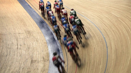 Velodrome Race stock footage