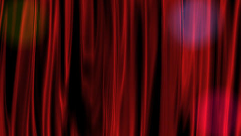 Red Curtain With Alpha Channel stock footage